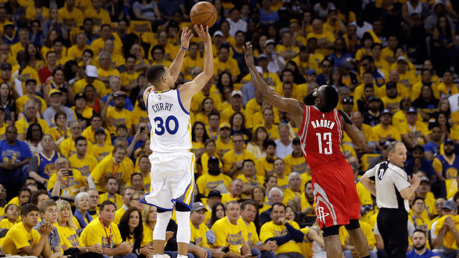 Curry and Harden Opening Night
